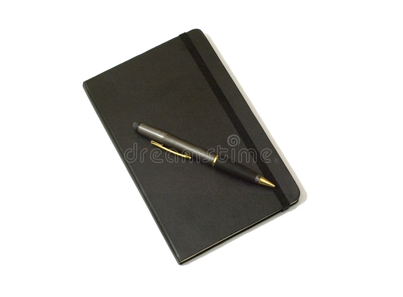 Journal and Pencil royalty free stock photos