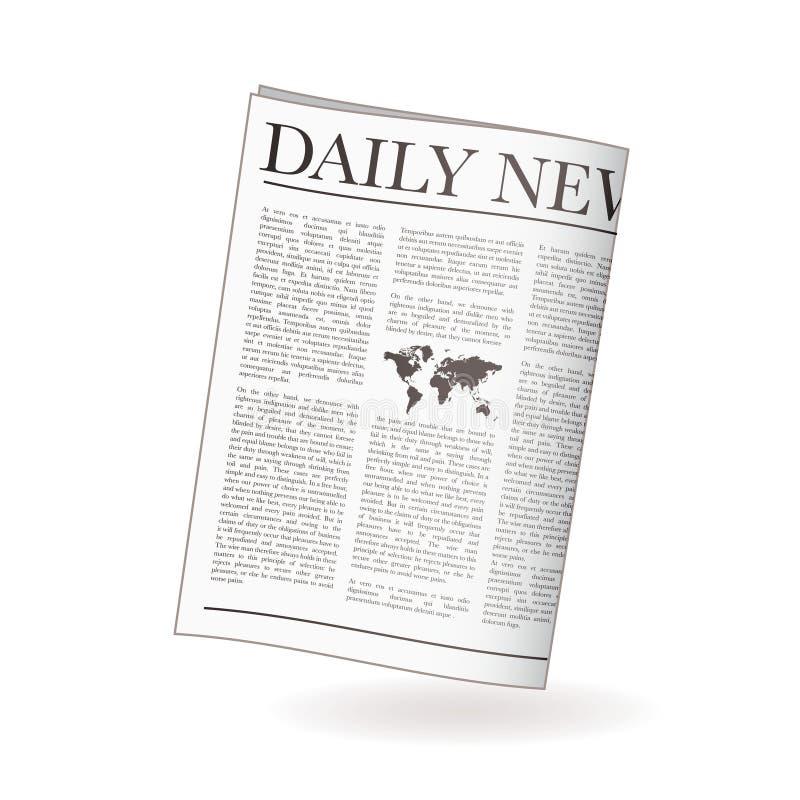 Journal quotidien illustration de vecteur