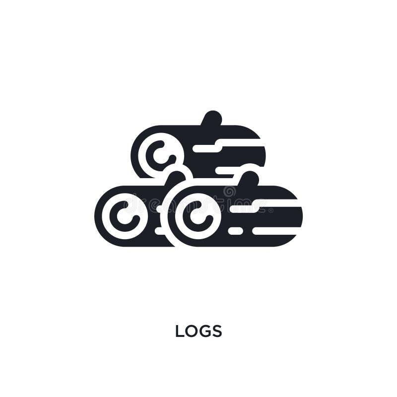 journaler isolerad symbol enkel beståndsdelillustration från vinterbegreppssymboler för logotecken för journaler redigerbar desig royaltyfri illustrationer