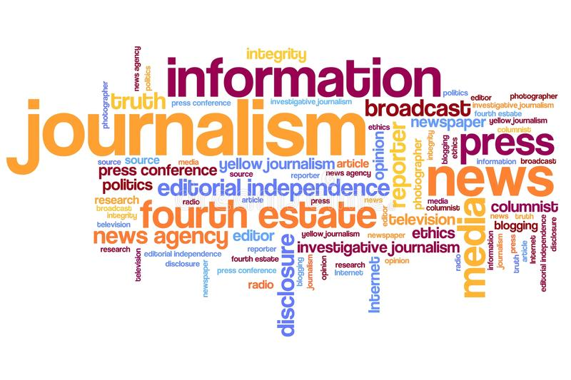 journalisme illustration stock