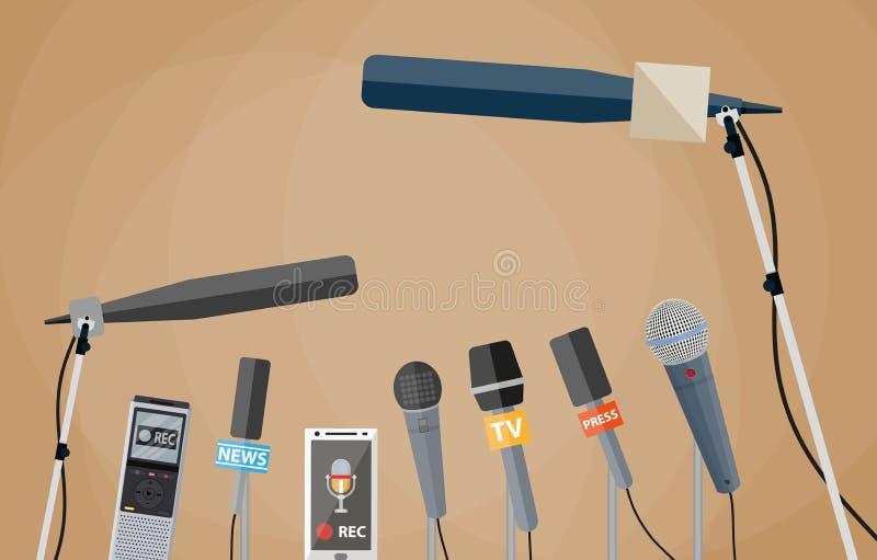 Journalisme, rapport vivant, actualités chaudes illustration libre de droits