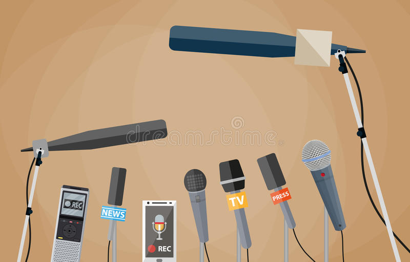 Journalismus, Livebericht, aktuelle Nachrichten lizenzfreie abbildung
