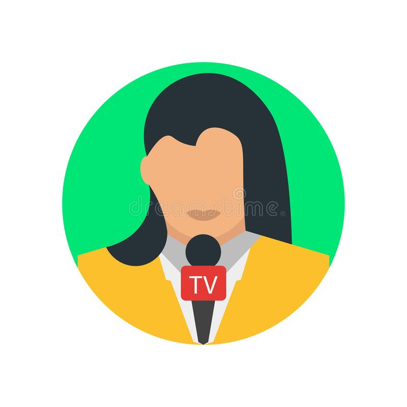 Journalist icon vector sign and symbol isolated on white background, Journalist logo concept stock illustration