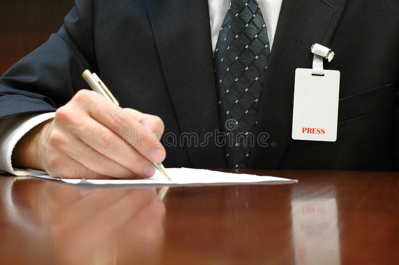 Download Journalist And Press Identification Card Stock Photo - Image: 30467608