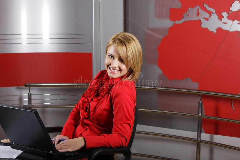 Download Journalist And Television Manager Editorial Stock Image - Image: 8737704