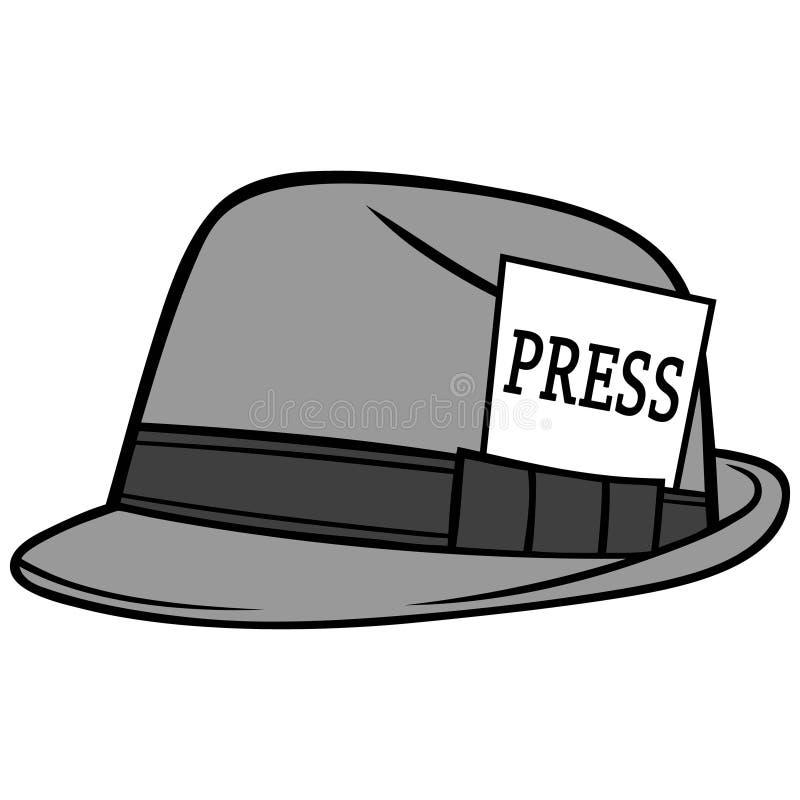 Journalista Hat Illustration ilustração stock