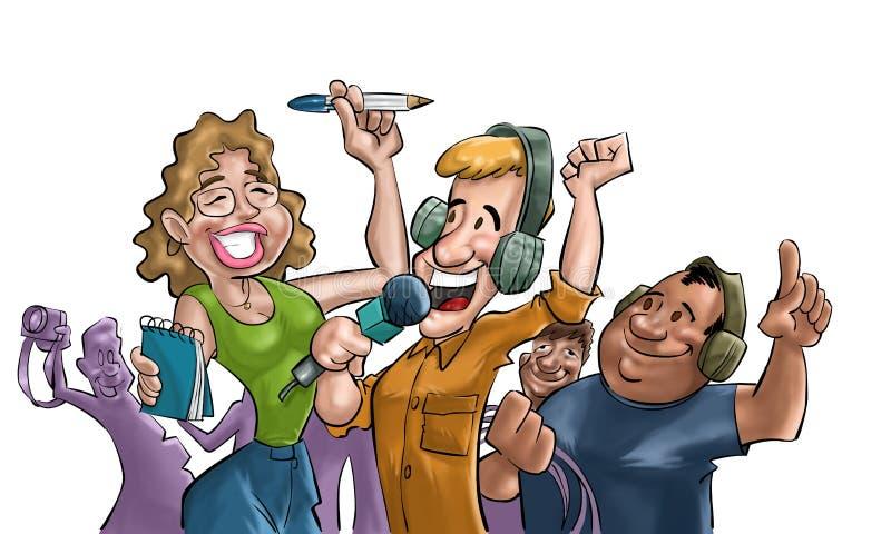 Journalistas ilustração do vetor