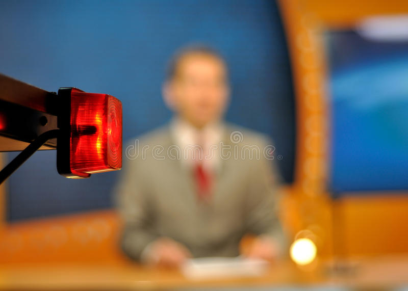 Journaliste de TV image stock