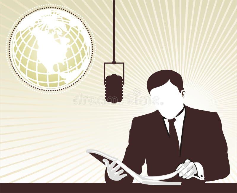 Journaliste de TV présent le neuf illustration libre de droits