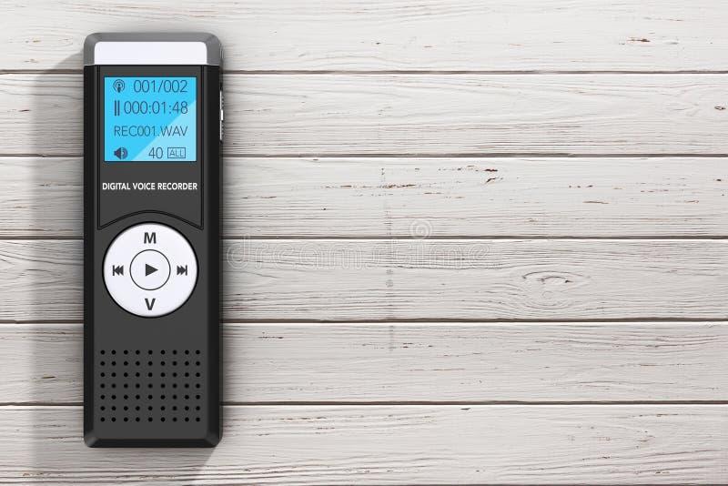 Journaliste Digital Voice Recorder ou dictaphone rendu 3d illustration libre de droits