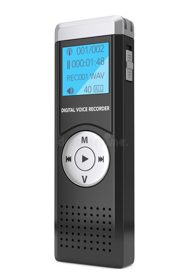 Journaliste Digital Voice Recorder ou dictaphone rendu 3d illustration stock