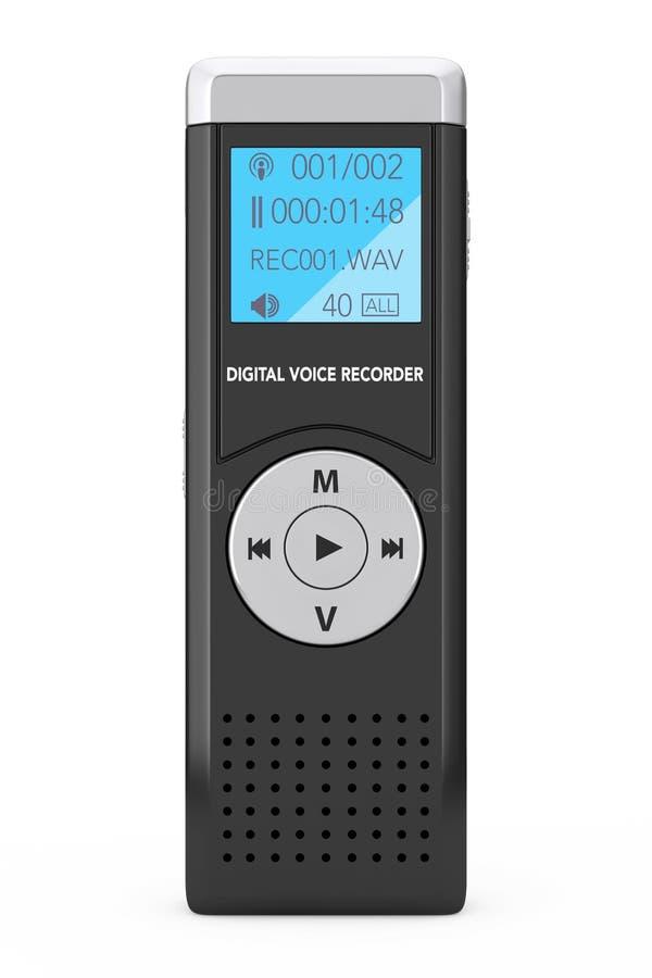 Journaliste Digital Voice Recorder ou dictaphone rendu 3d illustration de vecteur