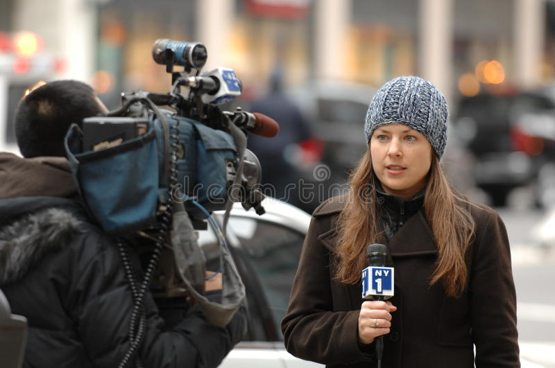 Journaliste NY1 images stock