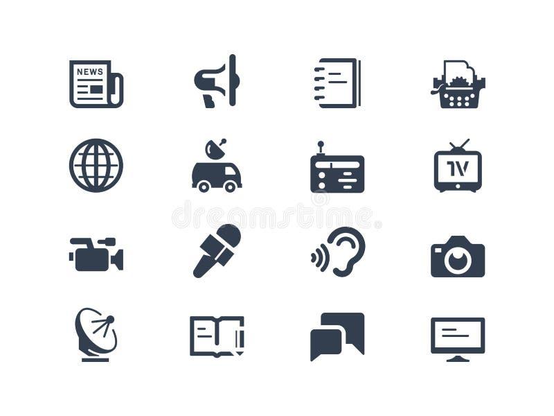 Journalistik- och presssymboler vektor illustrationer