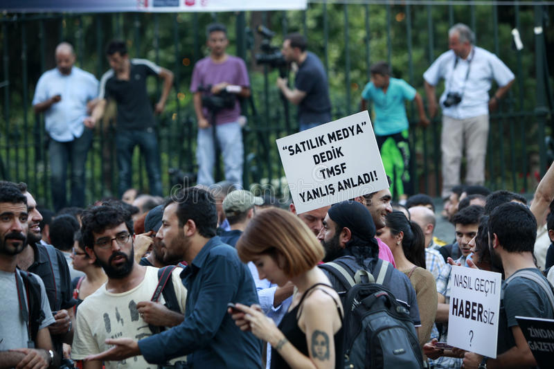 Journalists Protest in Istanbul
