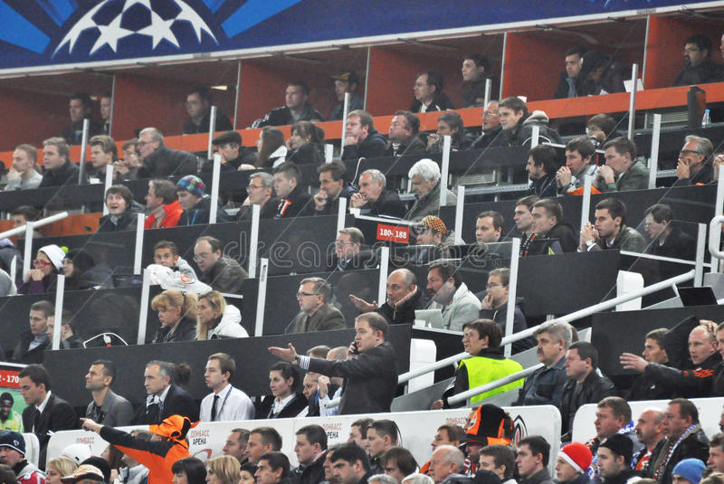 Download Journalists And Reporters Are Watching The Match Editorial Stock Image - Image of footballer, action: 27347679