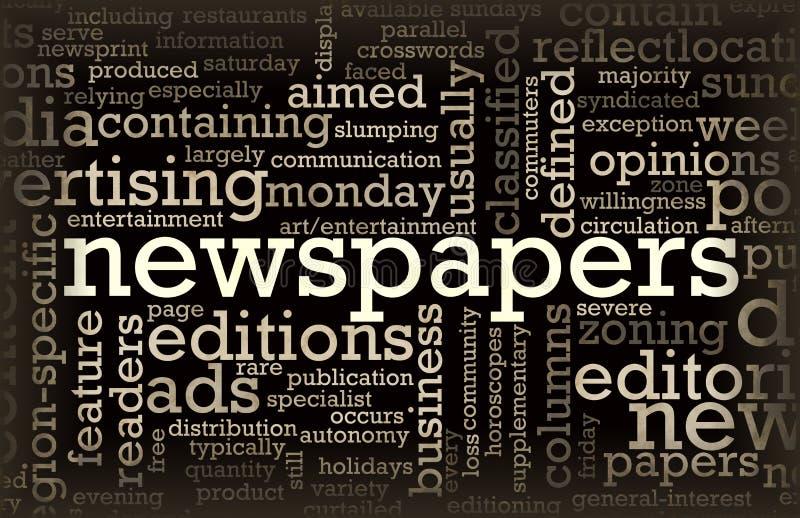 Journaux illustration libre de droits