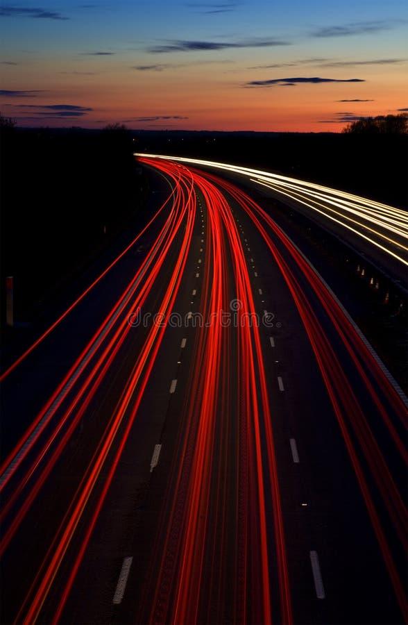 Journaux de lumière d'autoroute photographie stock libre de droits