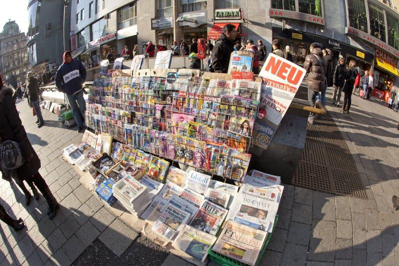Journaux vendus dans l'avant image libre de droits