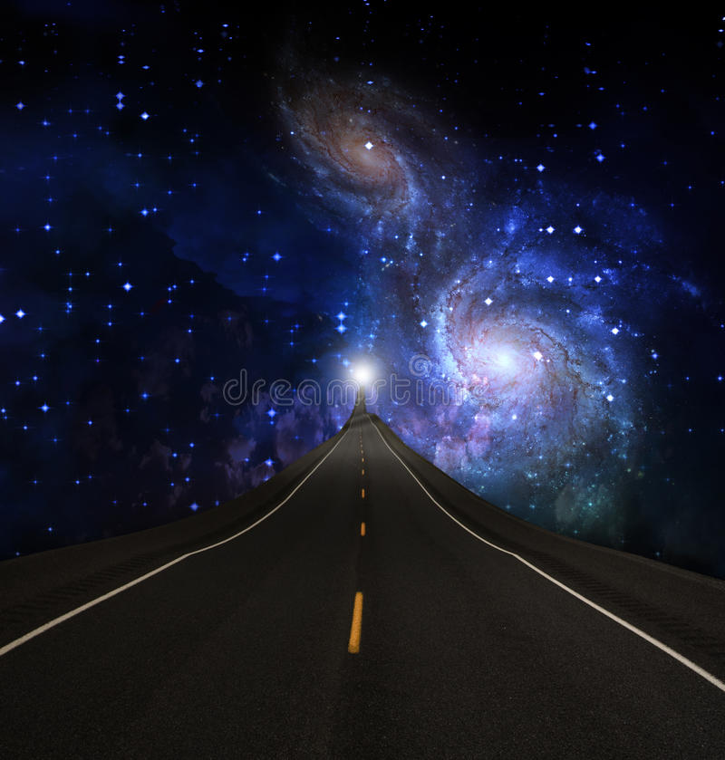 Download Journey stock illustration. Image of highway, empty, galaxy - 14607195