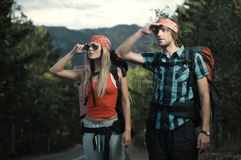 Download Journey stock image. Image of hitchhiker, outdoor, girl - 15826191