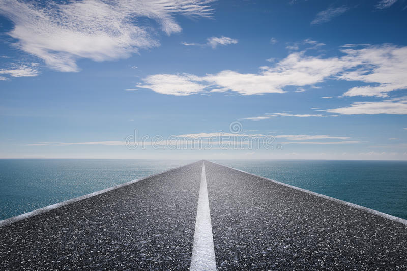 Journey concept with long road royalty free stock photos