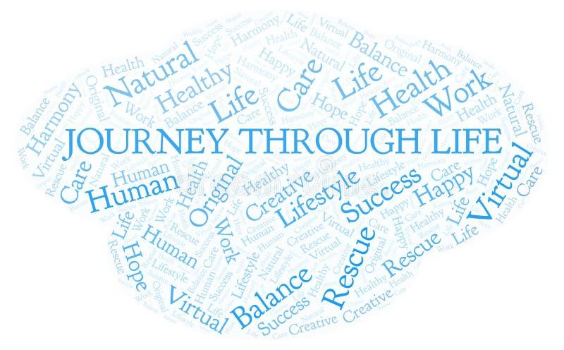 Journey Through Life word cloud royalty free illustration