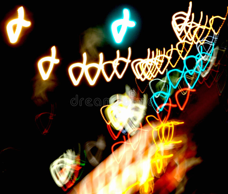 The Journey. Night Photograph of Construction sight with movement could be used to represent many concepts royalty free stock images