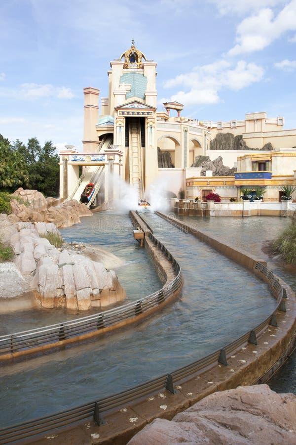 Journey to Atlantis Log Flume stock image