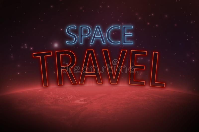 Journey to mars vector illustration