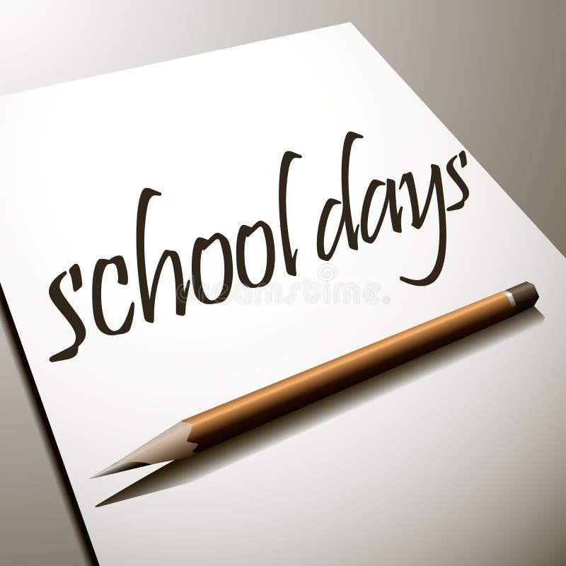jours d'école, de nouveau à l'école image libre de droits