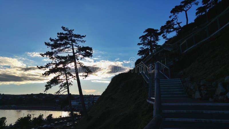 Jours de coucher du soleil photos stock