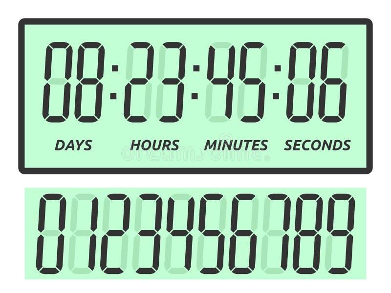 Jours, heures, minutes, secondes illustration de vecteur