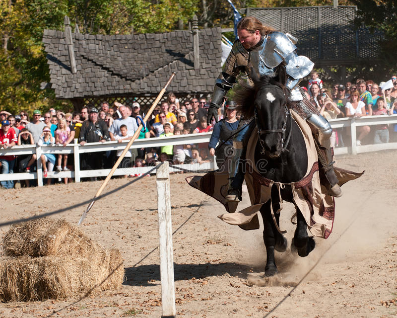 Download Jousting Champion Shane Adams Editorial Photography - Image of noble, loyal: 16474042