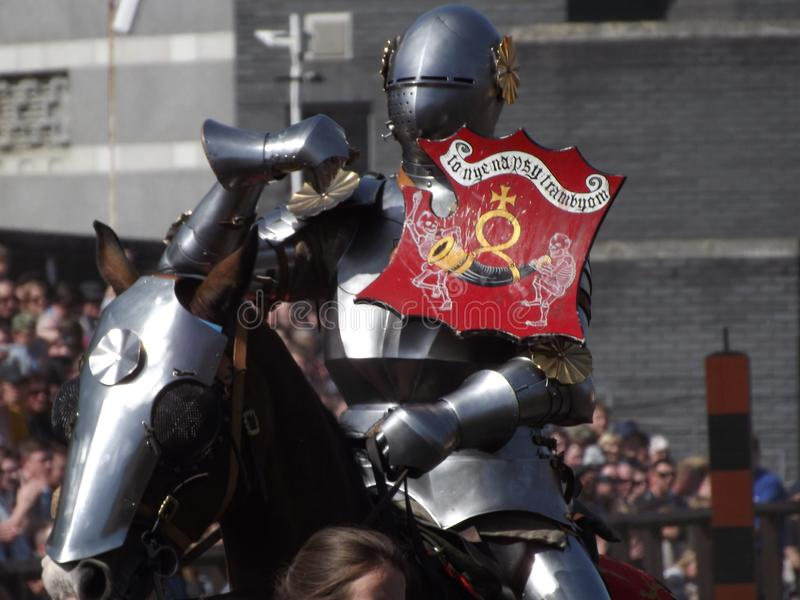 Jousting Knight royalty free stock photography