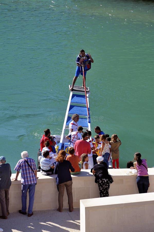 Jousting sul vecchio porto di Marsiglia fotografia stock libera da diritti