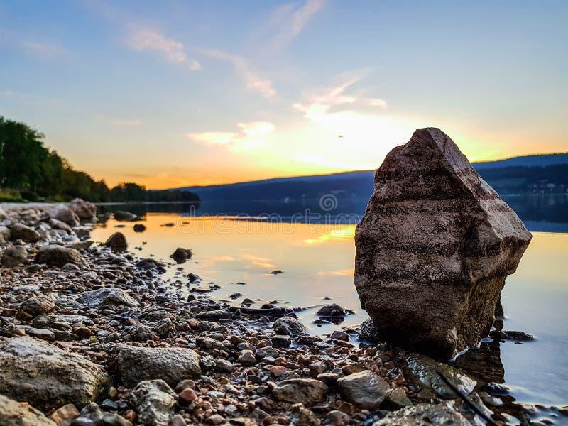 Joux湖 图库摄影