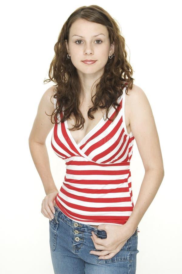 Download Jovem imagem de stock. Imagem de fêmea, forma, modelo, sorriso - 100693