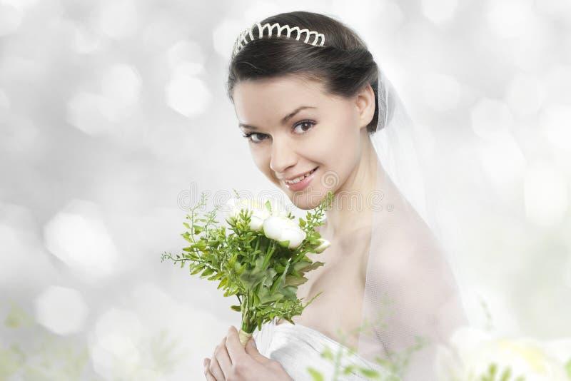 Jovem mulher bonita como a noiva fotografia de stock royalty free