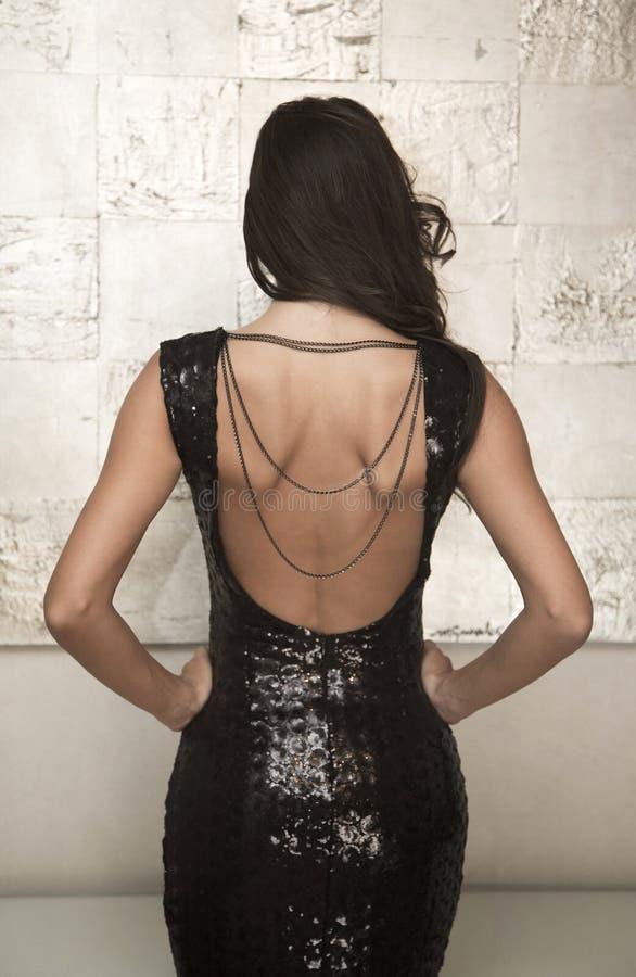 Jovem mulher bonita no vestido fotografia de stock royalty free