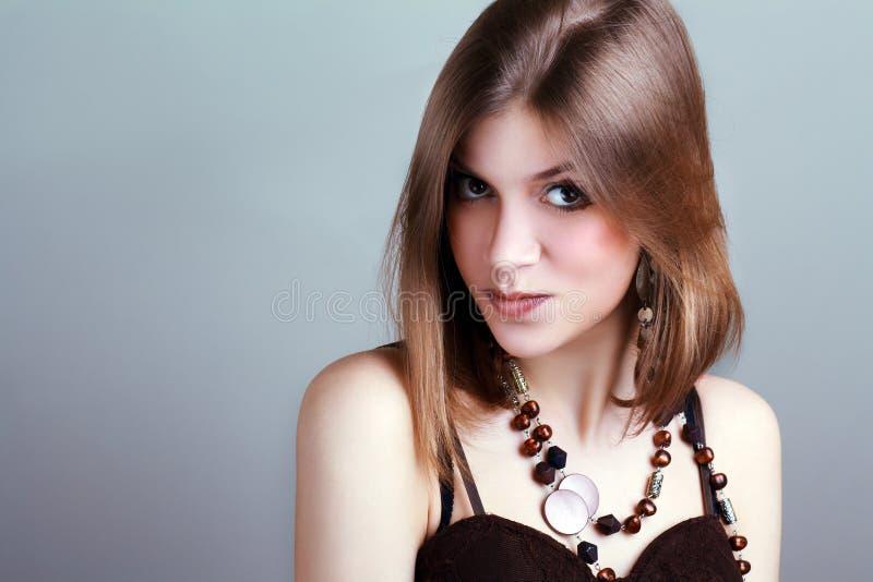 Jovem mulher com composição da fantasia fotos de stock royalty free