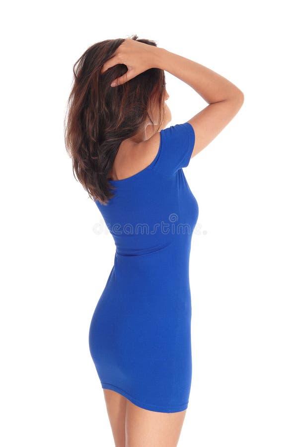 Jovem mulher magro da parte traseira imagens de stock royalty free