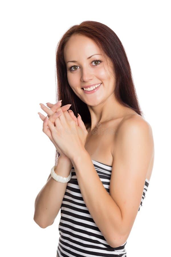 Jovem mulher muito bonita com um sorriso encantador foto de stock royalty free