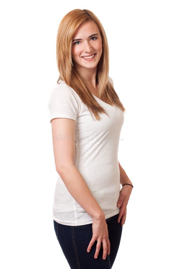 Jovem mulher ocasional fotografia de stock royalty free