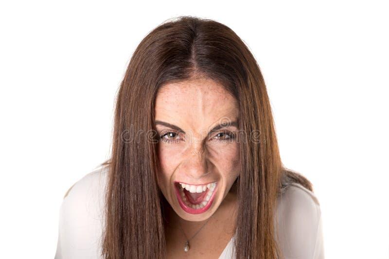Jovem mulher ocasional irritada foto de stock