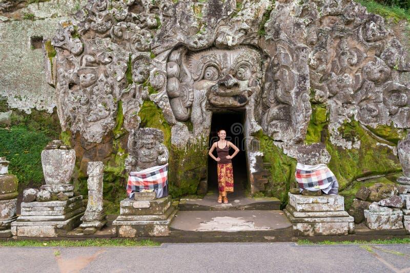 Jovem parada em Goa Gajah imagem de stock
