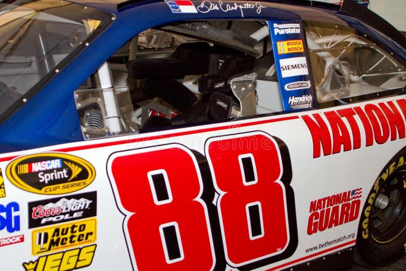 Joven de Dale Earnhardt del programa piloto de la taza de NASCAR Sprint foto de archivo libre de regalías
