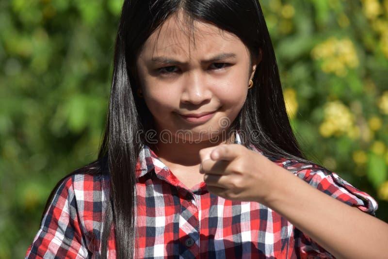 Joven femenino asiático enojado imagen de archivo