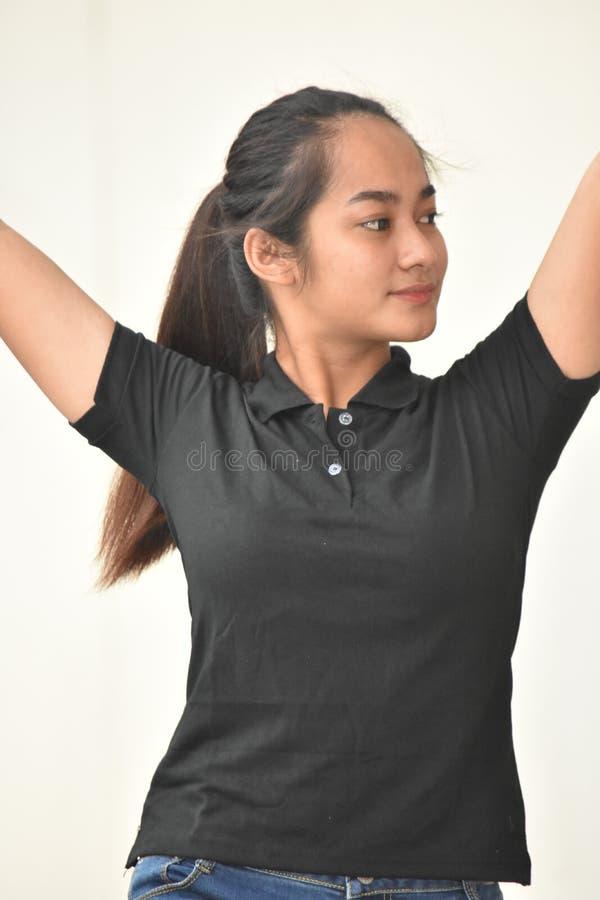 Joven femenino con el pelo largo foto de archivo libre de regalías