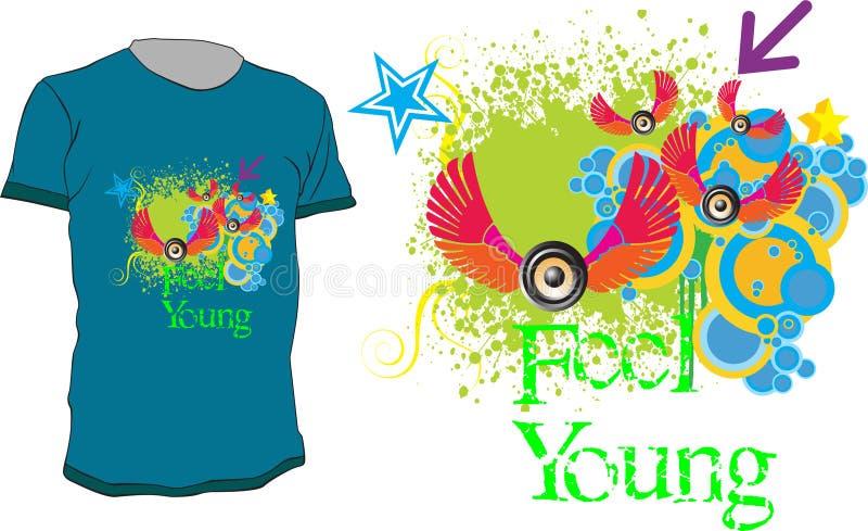 Jovens da sensação ilustração stock